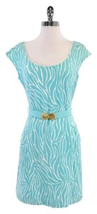 Lilly Pulitzer short dress Sky Blue White Belted on Tradesy