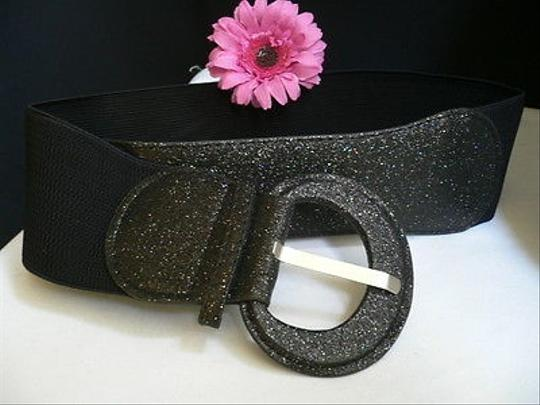 Other Women Belt Fashion Hip Elastic Waist Sparkling Black Holidays 31-44