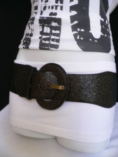 Other Women Hip Elastic Waist Sparkling Black Fashion Christmas Belt 25-37 Xs-l