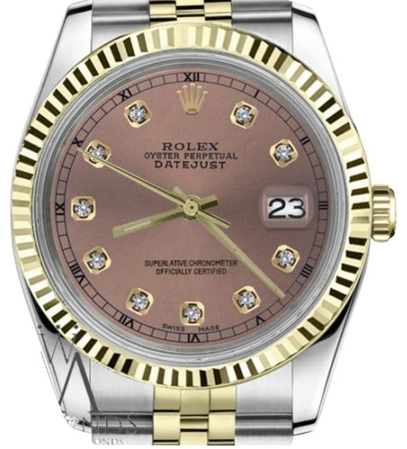 Rolex Women's 26mm Datejust2tone Salmon Color Dial with Diamond Accent Rt Watch Rolex Women's 26mm Datejust2tone Salmon Color Dial with Diamond Accent Rt Watch Image 1