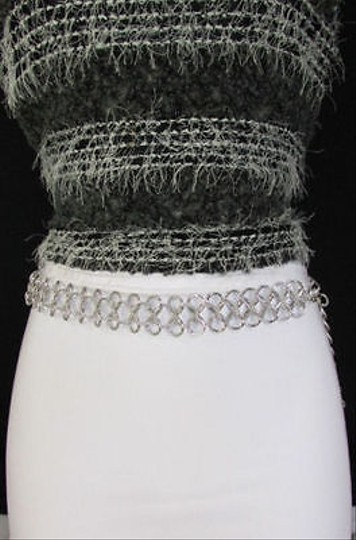 Other Women Silver Metal Chunky Thick Chain Fashion Belt Hip Waist One