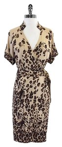 Diane von Furstenberg Leopard Print Safari Silk Dress