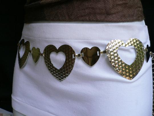 Other Unique Women Hip Waist Silver Fashion Metal Belt Hearts 27-38