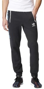 adidas Track Mens Sports Wear Athletic Pants Black