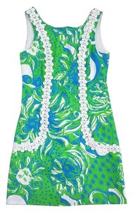 Lilly Pulitzer short dress Green & Blue Cotton on Tradesy