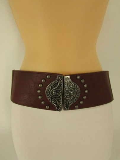Other Women Belt Elastic Black Red Brown Wide Hip High Waist Fashion