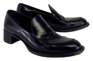 Prada Black Leather Loafers Boots