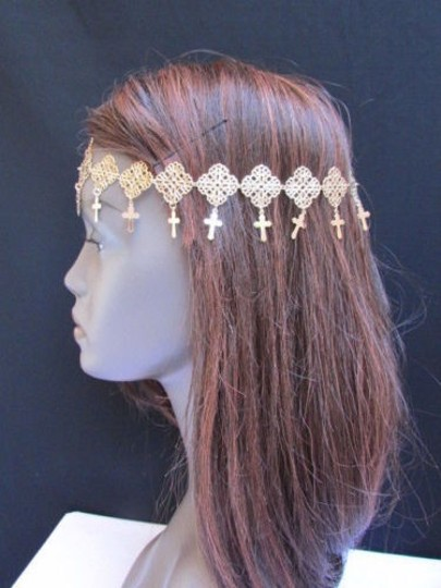 Other Women Gold Multi Moroccan Crosses Metal Full Head Chain Jewelry