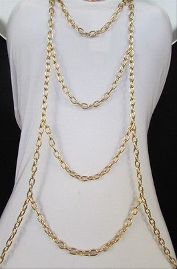 Other Women Gold Body Chain Full Necklace Fashion Trendy Jewelry