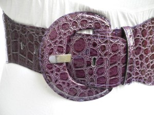 Other Women Trendy Hip Elastic High Waist Purple Fashion Belt 25 - 37