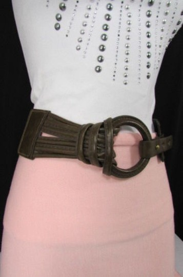 Other Women Elastic Mocha Brown Low Hip Waist Fashion Belt