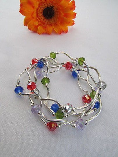 Other Women Bangles Bracelets Silver Red Blue Green Lavander Beads Fashion Jewelry
