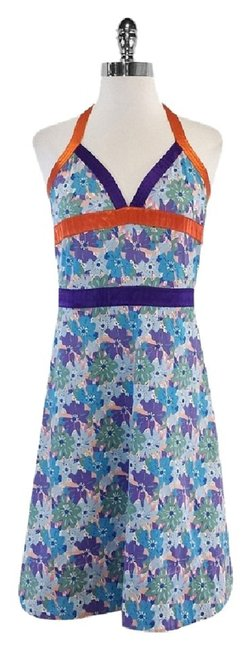 Marc Jacobs short dress Multi Color Floral Cotton Halter on Tradesy