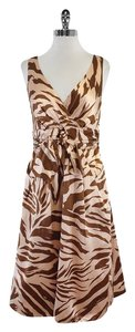 Marc by Marc Jacobs Pink Brown Animal Print Dress