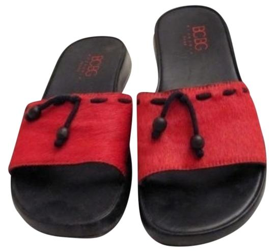 Preload https://img-static.tradesy.com/item/192742/bcbgmaxazria-red-slides-sandals-size-us-7-0-1-540-540.jpg