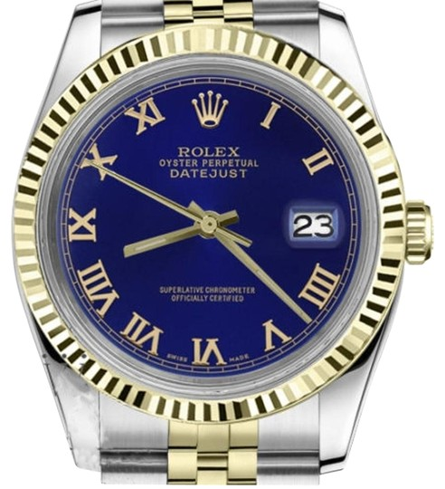 Preload https://img-static.tradesy.com/item/19274257/rolex-men-s-36mm-datejust2tone-blue-color-roman-numeral-dial-watch-0-1-540-540.jpg