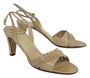 Bruno Magli Tan Leather Heels Sandals
