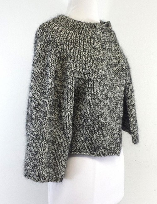 STRENESSE Knit Wool Cropped Button Sweater