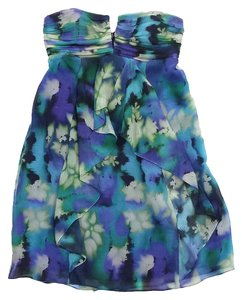 Nicole Miller short dress Abstract Print Silk Strapless on Tradesy