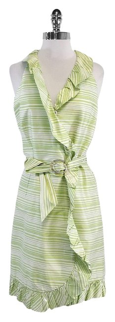 Preload https://img-static.tradesy.com/item/19274425/sara-campbell-green-and-white-striped-ruffly-mid-length-short-casual-dress-size-10-m-0-1-650-650.jpg