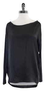 Vince Grey Silk Knit Long Sleeves Top