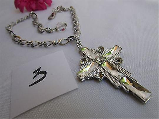 Other Women Silver Boot Anklet Chain 1 Strap Big Rhinestone Cross Western Shoe Charm3