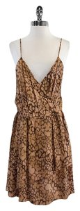 Rebecca Taylor short dress Brown Tan Spaghetti on Tradesy