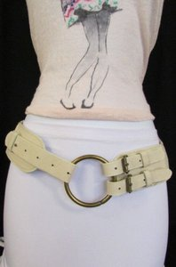 Other Women Cream White Braided Moroccan Fashion Belt Hip Waist 30-35