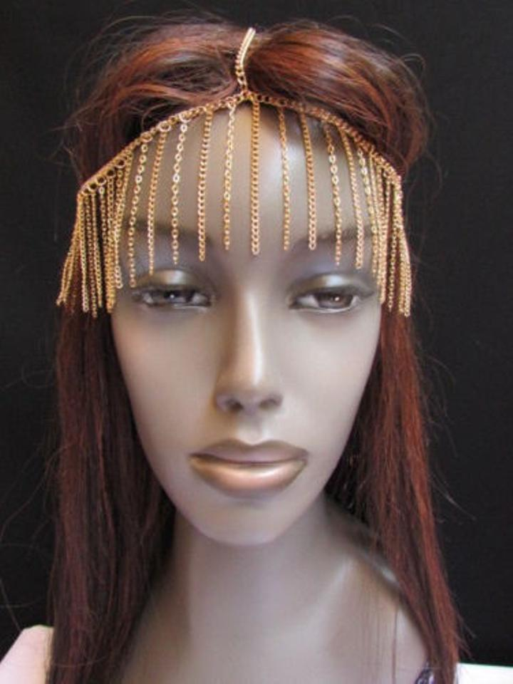 Other Unique Women Gold Long Front Fringes Metal Head Chains Hot Fashion  Jewelry Image 0 ...