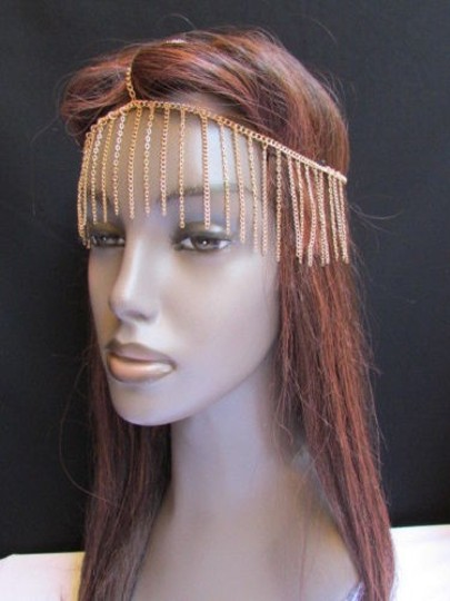 Other Unique Women Gold Long Front Fringes Metal Head Chains Hot Fashion Jewelry