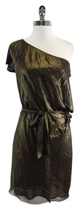 BCBGMAXAZRIA short dress Metallic Gold & Black on Tradesy