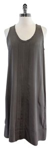 Eileen Fisher Grey Sleeveless Pleated Shift Dress