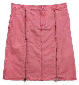 Marc Jacobs Pink Button Zip Cotton Skirt