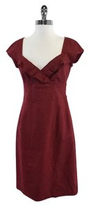 Nanette Lepore short dress Red Tweed Cap Sleeve on Tradesy