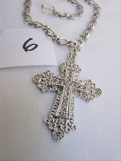 Other Women Silver Boot Anklet Chain 1 Strap Big Rhinestones Cross Shoe Charm 6