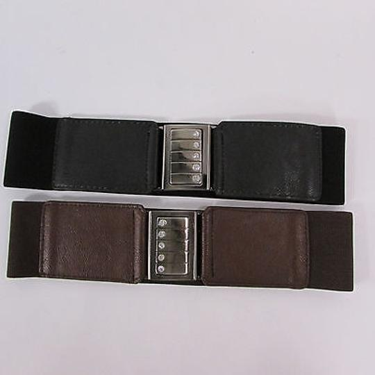 Other Women Belt Elastic Waistband Black Or Brown Stretch Fashion