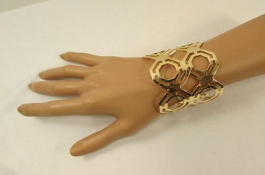 Other Women Gold Thin Metal Hand Cuff Fashion Bracelet Jewelry Geometric Shapes