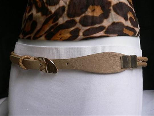Other Chic Women Camel Tan Fashion Braided Hot Belt Gold Buckle 33-37