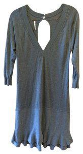 Free People short dress grey Keyhole Ornate Sweater Lightweight on Tradesy