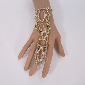 Other Women Pcs Gold Metal Plate Hand Chain Fashion Bracelet Slave