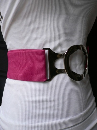 Other Women Elastic Silver Hook Buckle High Waist Hip Pink Plus Belt
