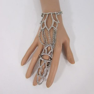Other Women Pcs Silver Metal Plate Hand Chain Fashion Bracelet Slave Ring Finger