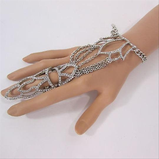Other Women Silver Metal Plate Hand Chain Fashion Bracelet Slave Ring