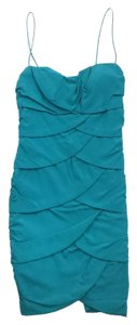 Nicole Miller short dress Teal Silk Petal Spaghetti on Tradesy