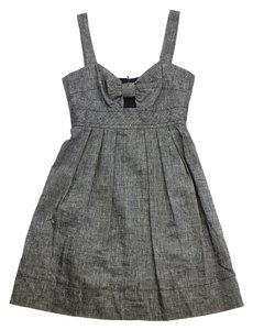 Trina Turk short dress Grey Linen Blend Sleeveless on Tradesy