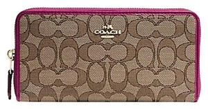 Coach Coach Accordion Zip Around Wallet in Outline Signature F54633