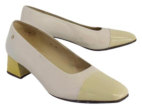 Preload https://img-static.tradesy.com/item/19276057/etienne-aigner-beige-and-yellow-chunky-low-heels-pumps-size-us-9-regular-m-b-0-1-540-540.jpg
