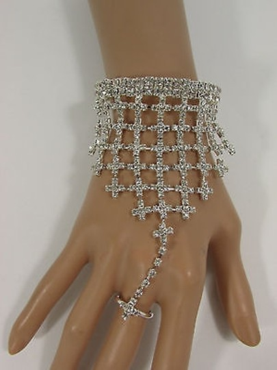 Other N. Women Silver Metal Hand Chain Fashion Bracelet Slave Ring