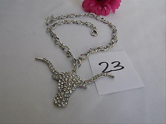 Other Women Silver Boot Anklet Chain Strap Texas Long Horn Cow Western Bull Shoe Charm