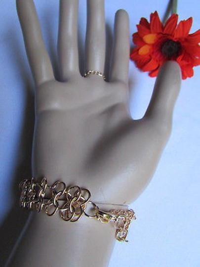 Other Women Bracelet Gold Metal Chains Slave Trendy Ring